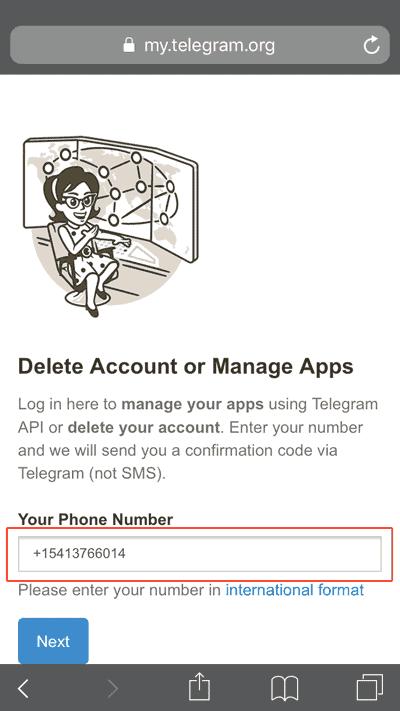 delet acounts 1 - دیلیت اکانت تلگرام چگونه انجام میشود؟