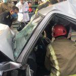 برخورد شدید اتوبوس شرکت واحد با پراید در میدان انقلاب/ انتقال ۳ مصدوم به بیمارستان