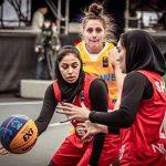 بسکتبال سه نفره انتخابی المپیک| سومین شکست دختران ایران برابر اوکراین