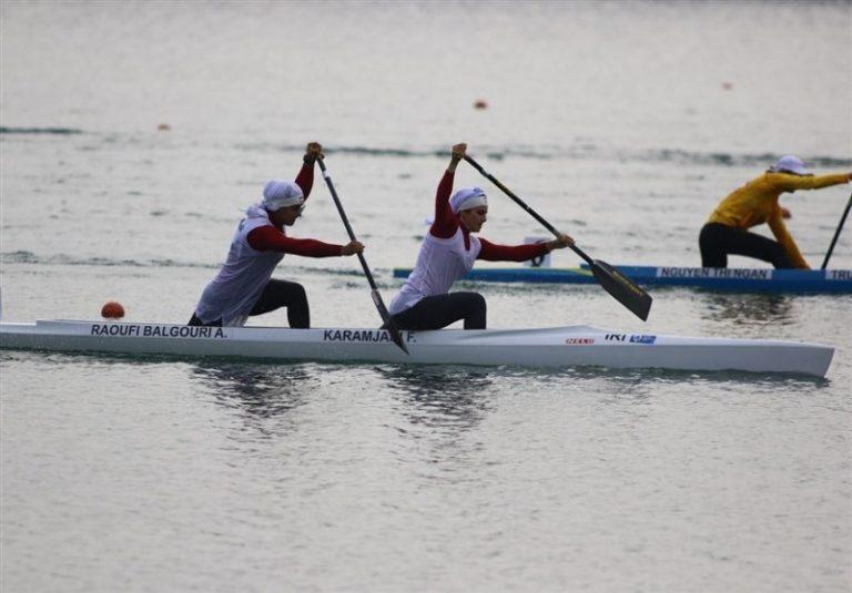 مسابقات انتخابی المپیک آبهای آرام| قایق دونفره ایران سوم شد و از کسب سهمیه بازماند