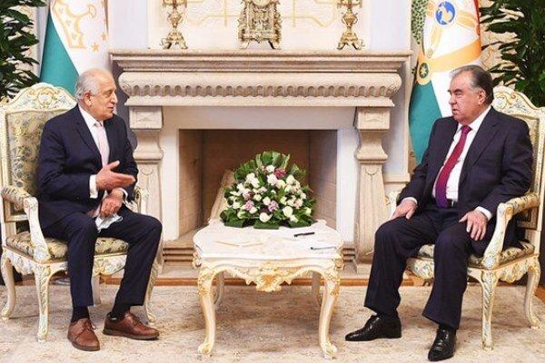 خلیل زاد با رئیس جمهور تاجیکستان دیدار کرد