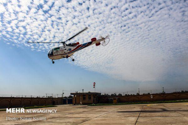 پروازی برای نجات جان/ کاهش زمان رسیدگی با اعزام بالگرد اورژانس