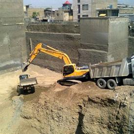 ماشین تخریب در تهران - تخریب ساختمان