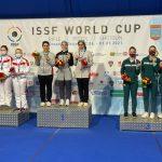 جام جهانی تیراندازی| تیم تفنگ بادی بانوان ایران قهرمان شد