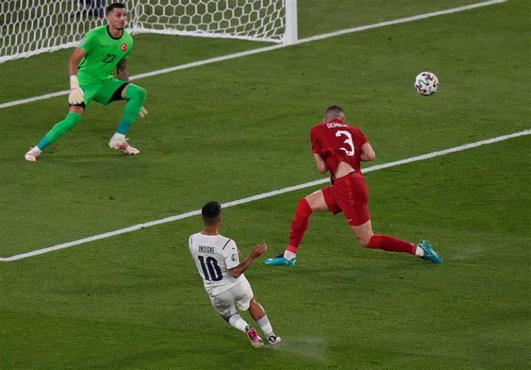 یورو 2020  تساوی ایتالیا و ترکیه در نیمه اول