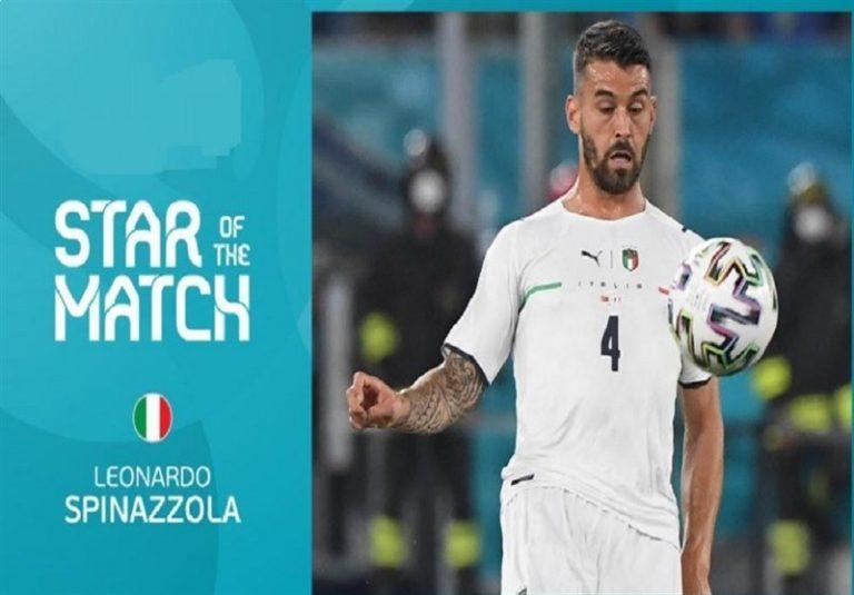 یورو 2020| اسپیناتزولا بهترین بازیکن دیدار ترکیه – ایتالیا شد + عکس