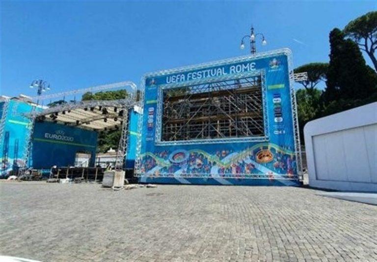 یورو 2020  افتتاح دهکده بازیها در شهر رُم