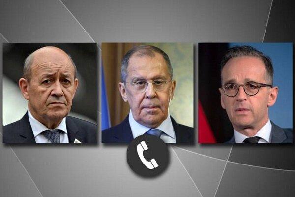 وزرای خارجه روسیه، فرانسه و آلمان تلفنی گفتگو کردند