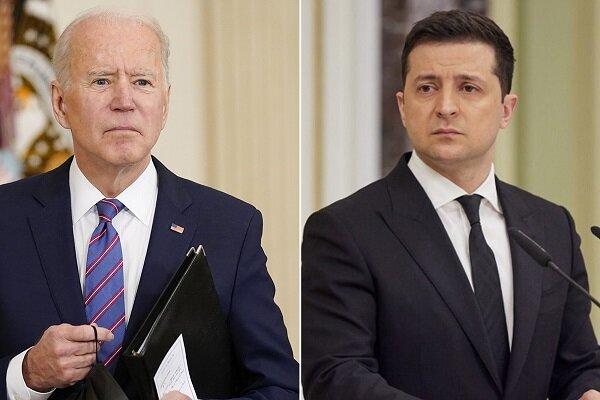 بایدن رئیس جمهور اوکراین را به آمریکا دعوت کرد