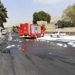 نشت بنزین در یکی از جایگاههای سوخت تهران + فیلم و تصاویر