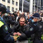 تظاهرات هزاران نفر از شهروندان استرالیا علیه محدودیت های کرونایی