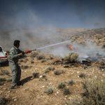 اطفاء حریق در منطقه قطری شاهرود/ ۲ هکتار مرتع در آتش سوخت