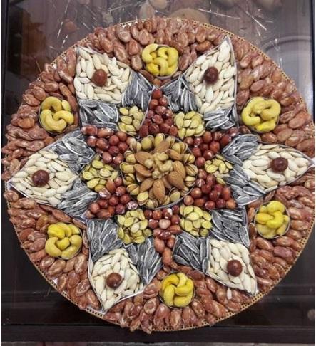 تزئین آجیل به شکل گل - ایده هایی جذاب برای تزئین انواع خوراکی ها به شکل گل و دسته گل