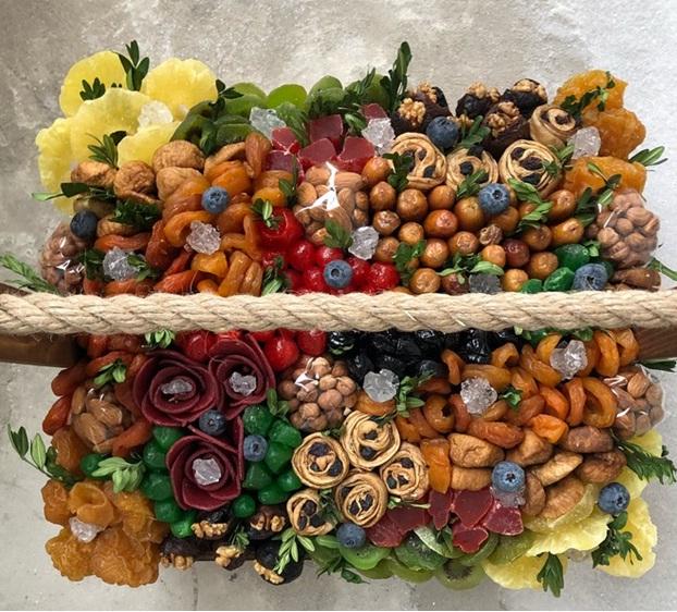 تزئین خوراکی به شکل دسته گل - ایده هایی جذاب برای تزئین انواع خوراکی ها به شکل گل و دسته گل