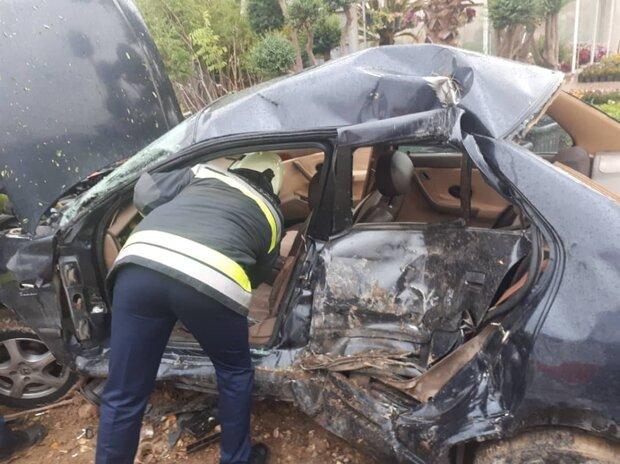 واژگونی خودروی سواری ۳ کشته و ۱ مصدوم درپی داشت
