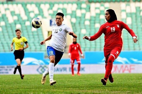 شکست تیم ملی فوتبال زنان مقابل ازبکستان در یک دیدار تدارکاتی