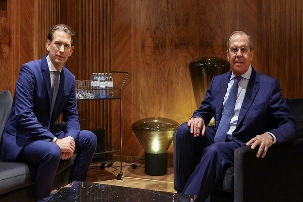 صدراعظم اتریش و «لاوروف» درباره افغانستان گفتگو کردند