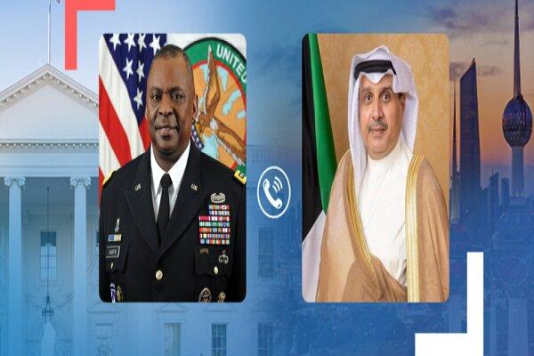 رایزنی وزیر دفاع کویت با همتای آمریکایی