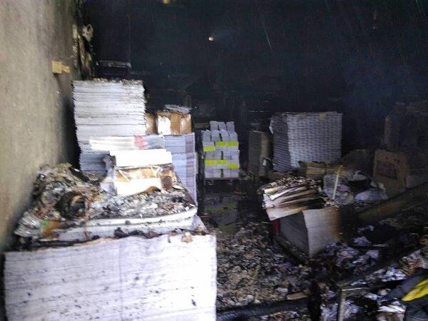 آتش سوزی یک کارگاه در خیابان قزوین