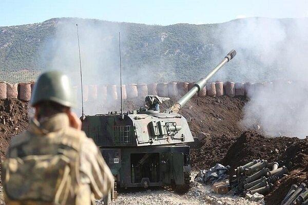 حملات توپخانه ای ارتش ترکیه به مواضع ارتش سوریه در ادلب