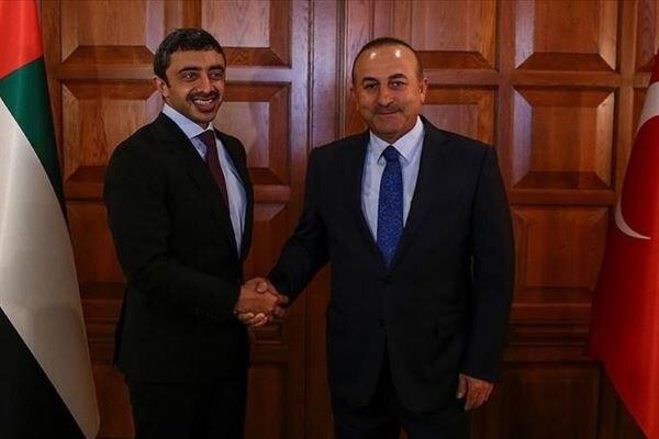 وزرای خارجه امارات و ترکیه تلفنی با یکدیگر گفتگو کردند