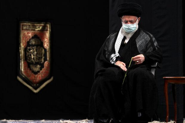 مراسم عزاداری اربعین حسینی با حضور رهبر انقلاب برگزار شد