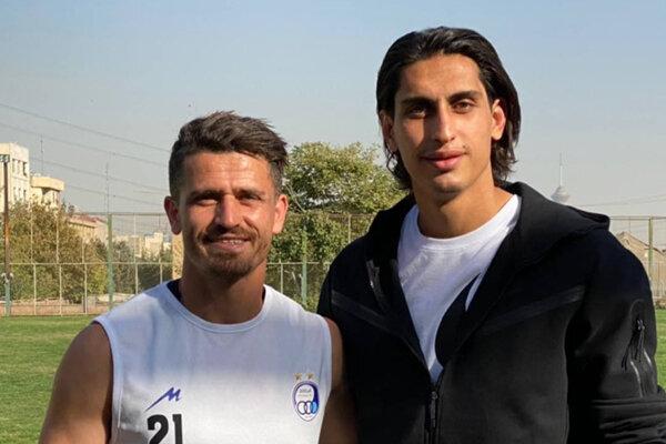 محمد نادری در تمرین تیم استقلال