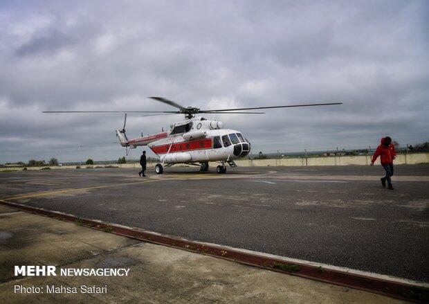 انجام گشت هوایی در مناطق زلزله زده برای اطلاع از سلامت مردم