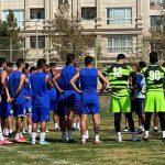 برگزاری تمرینات تیم فوتبال استقلال در ورزشگاه آرارات