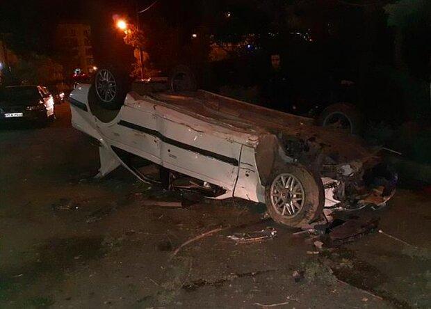 ۲ فوتی در حادثه واژگونی خودروی پرشیا