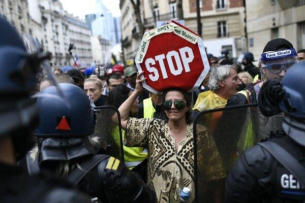 تظاهرات گسترده فرانسویها علیه سیاستهای «ماکرون»